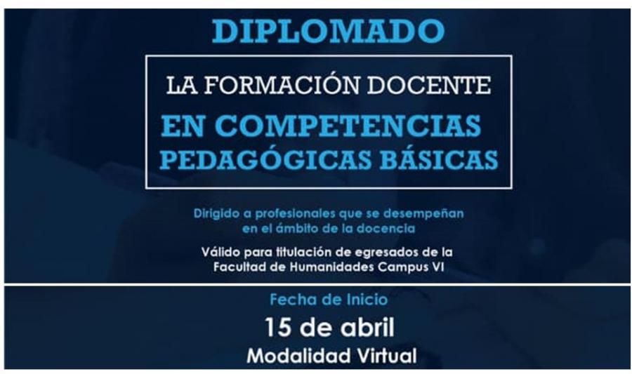 DIPLOMADO: LA FORMACIÓN DOCENTE EN COMPETENCIAS PEDAGÓGICAS BÁSICAS