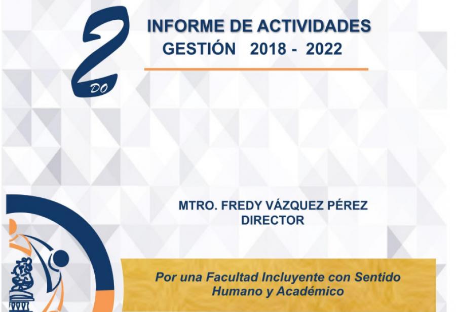 2do INFORME DE ACTIVIDADES- Gestión 2018-2020